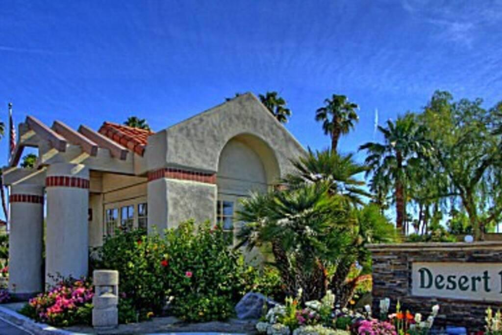 Gated Resort Entrance