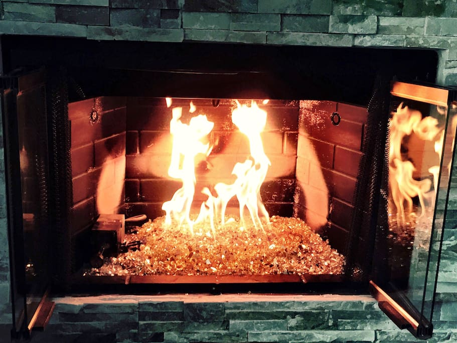 Glass Fire Place