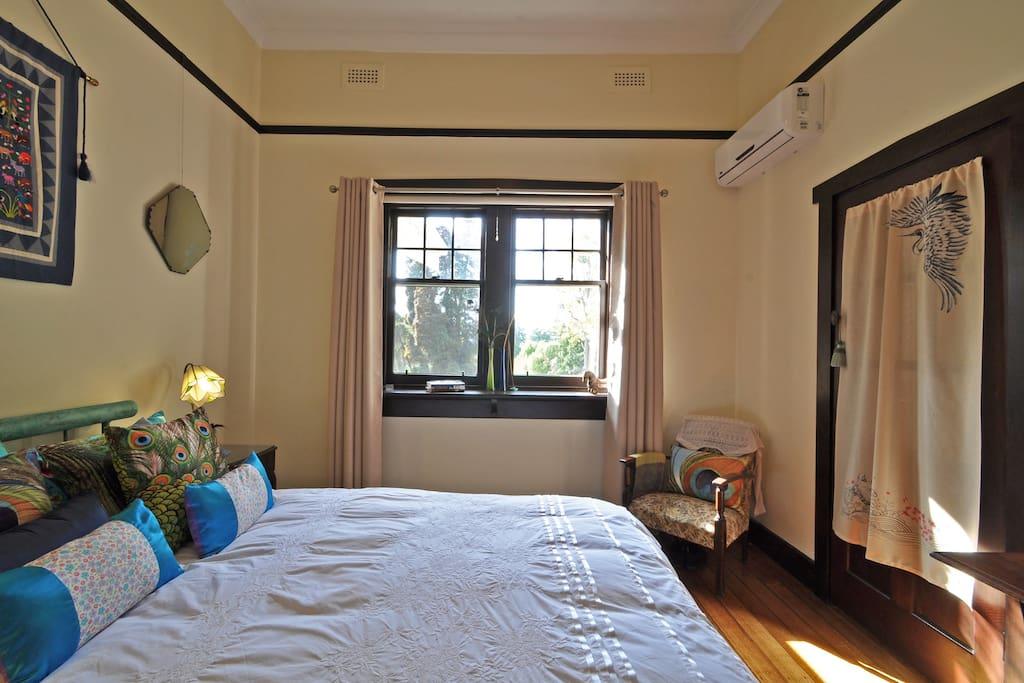 Juliet bedroom with garden views