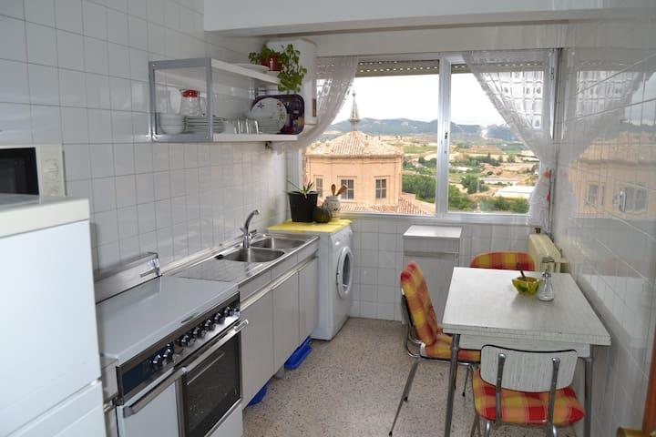 Céntrico piso con terraza - Haro - Wohnung