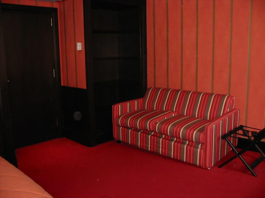 Chambre 4 personnes (canapé-lit)