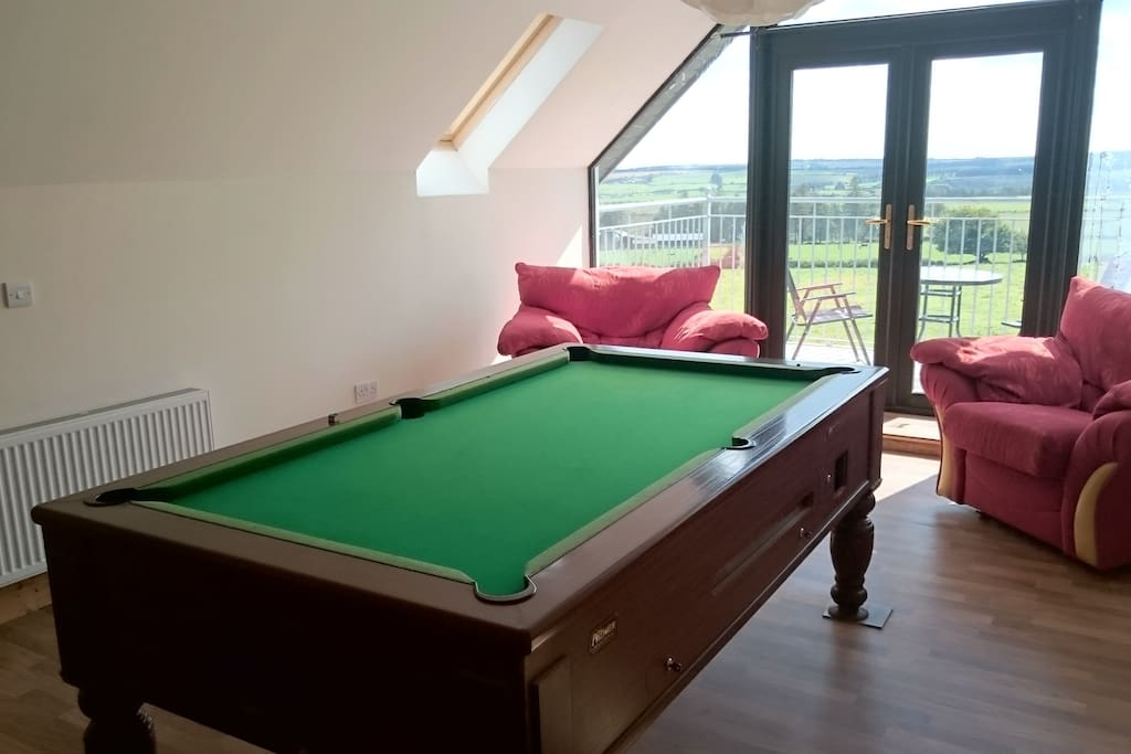 Or perhaps you just feel like chilling out and having a game of pool indoors !