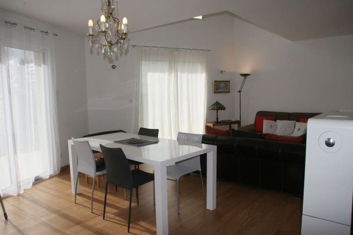 Large bedroom with private bathroom - Saint-Pavace - Casa