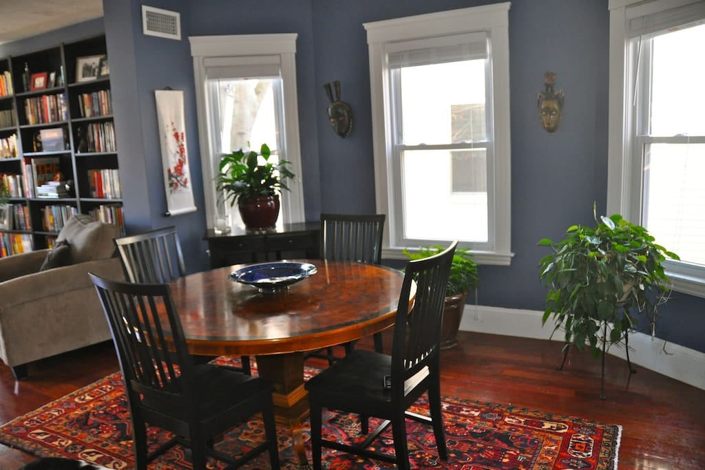 Dining room table with seating for five