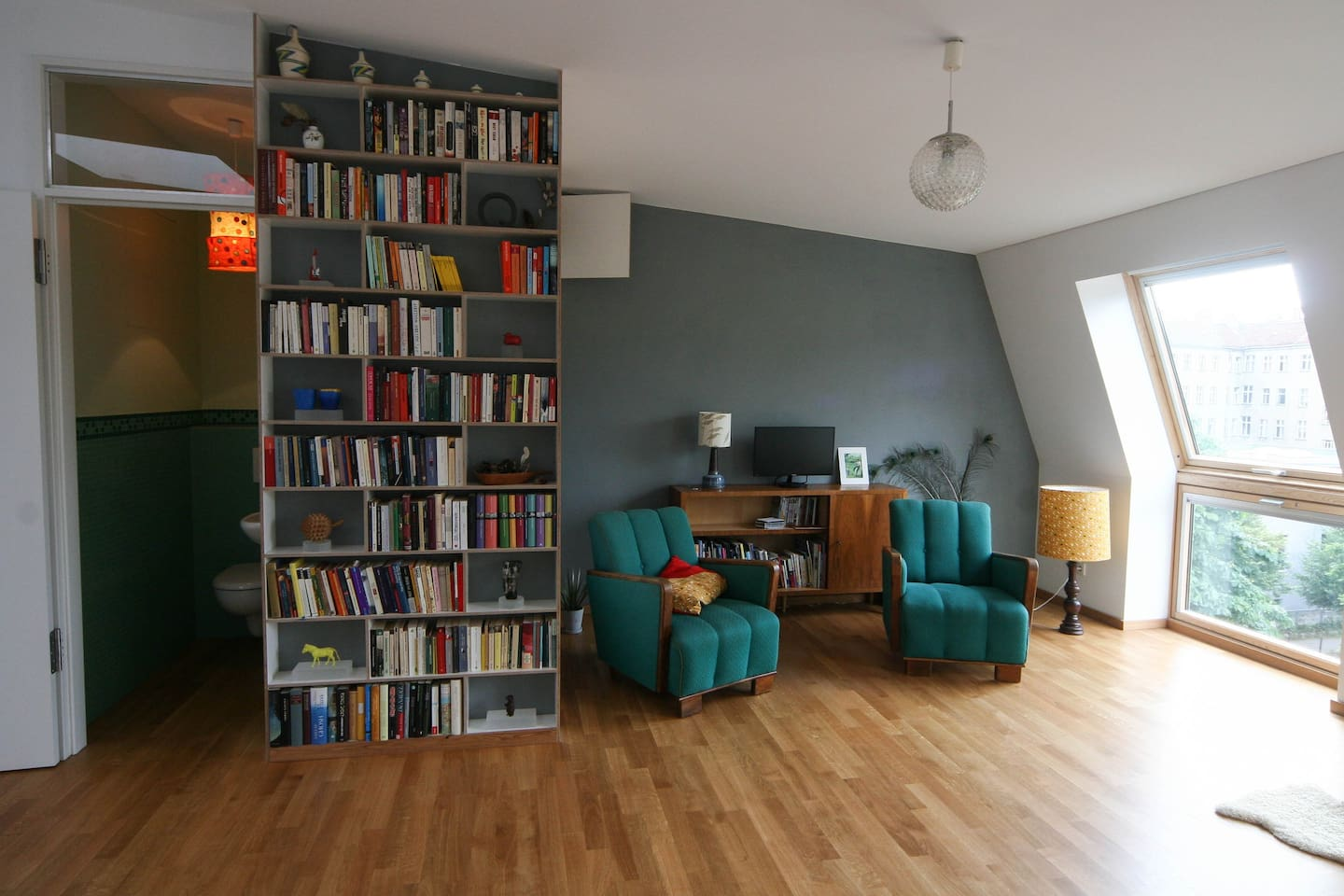 living room and small rest room