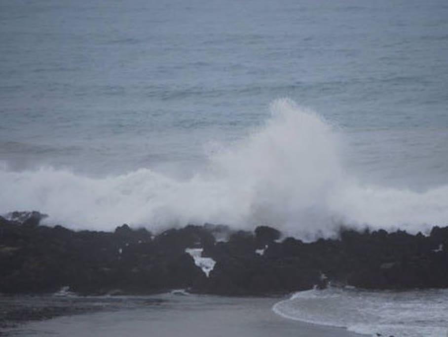 Le dechenement des vagues