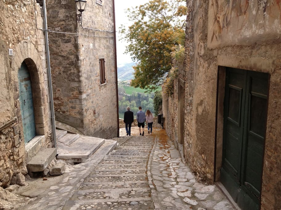 The historic city of Calvi dell` Umbria