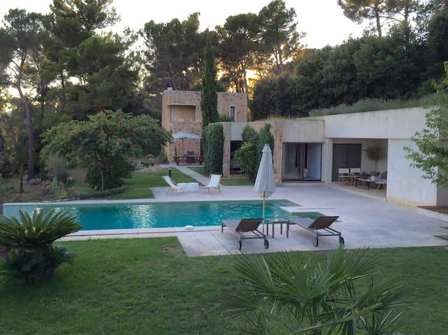 Villa Carrée - Design & Infinity Pool, Panorama - Cabris - Villa