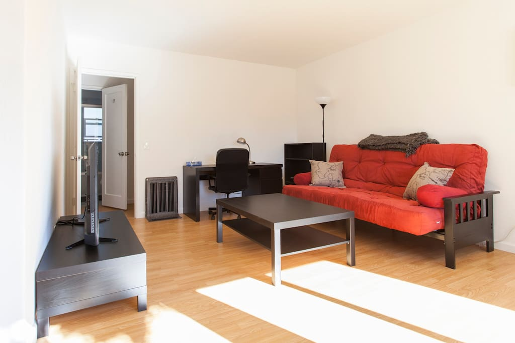 Living Room + Small Office Area, Gas Furnace