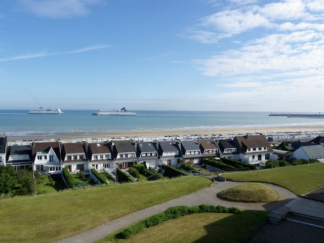 Studio plage vue mer balcon pk/sol - Calais - Apartament