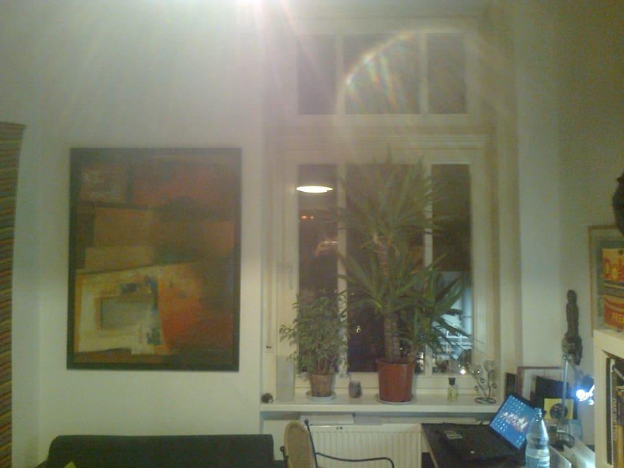 Blick zum Fenster