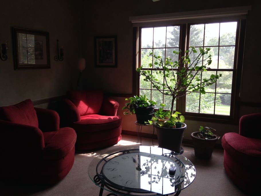 Sitting room on main floor