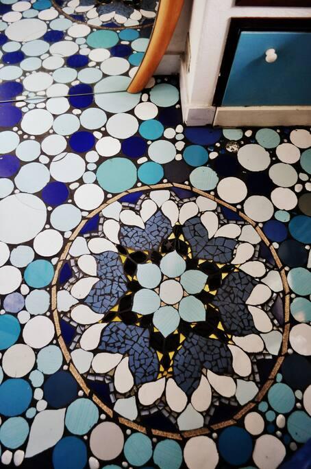 floor of the bathroom