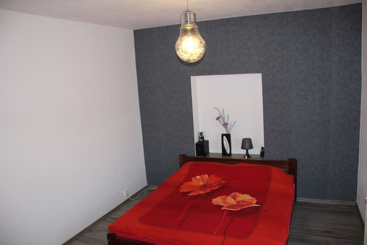 Spacious private rooms near airport - Buštěhrad - Huis