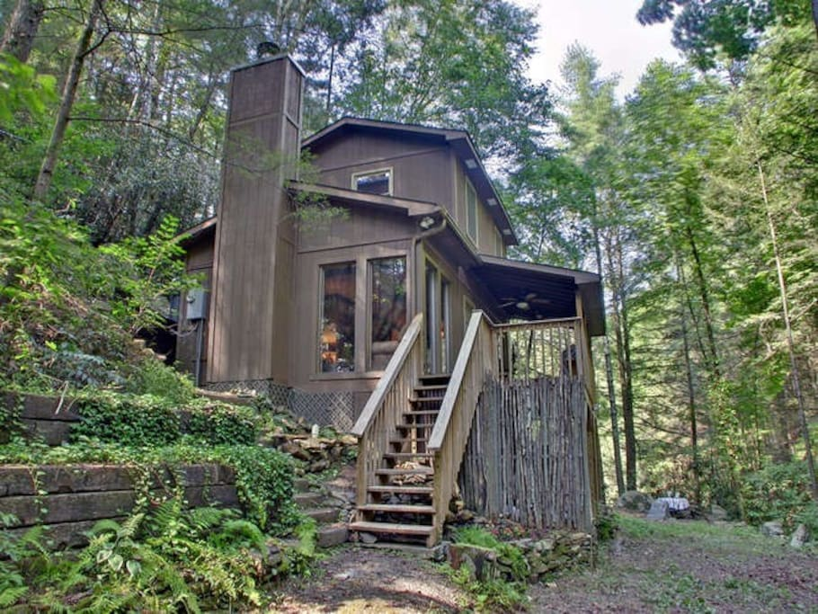 Waterfall Cabin Callingwater Cabins For Rent In Murphy