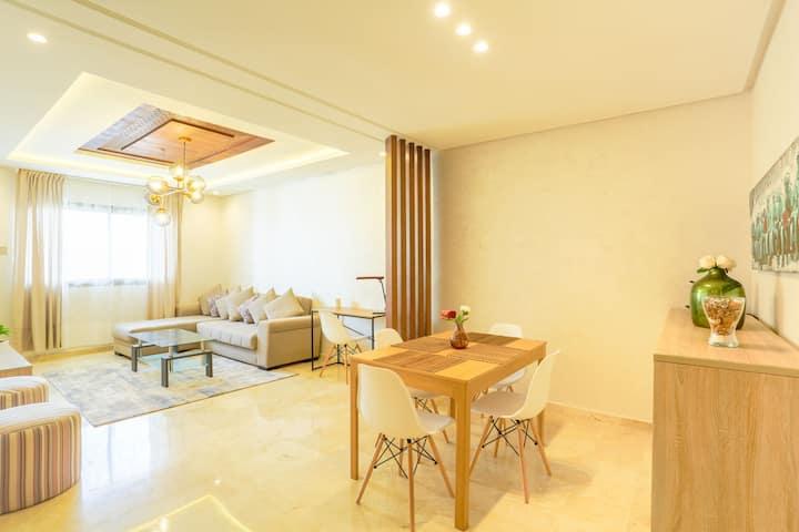 Appartement moderne et neuf au centre de Rabat