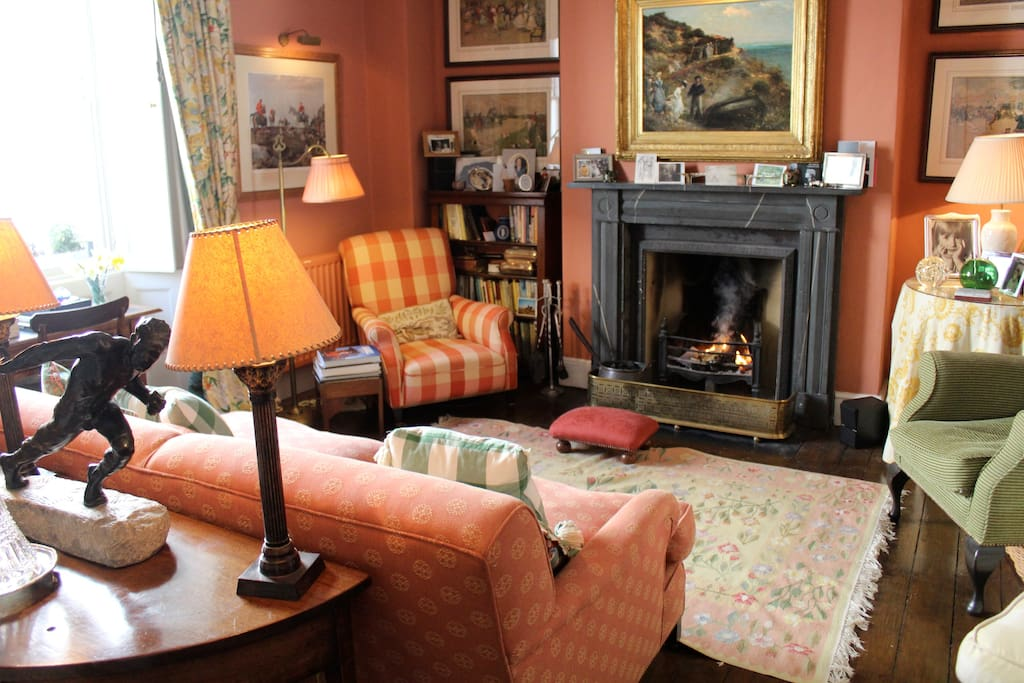 Drawing Room with Real Log fires in winter months add a cosy and very comfortable country feel to the centrally located townhouse