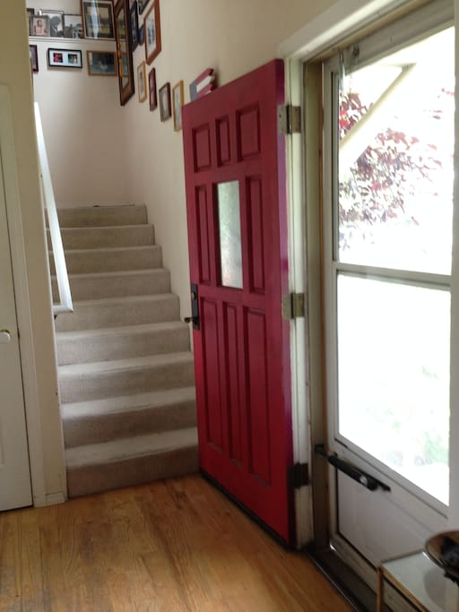 Entry with stairs to Guest Rooms