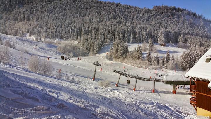 Magnifique F4 sur le front de neige