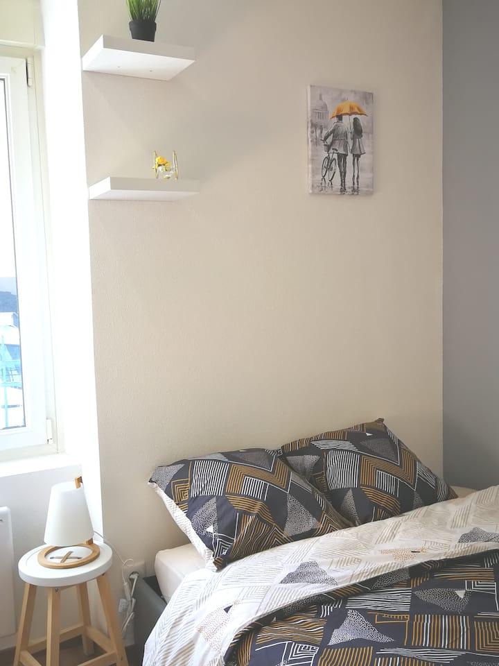 Chambre + jardin idéal confinement et télétravail