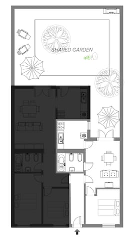 house plan - 40m2 (living area)