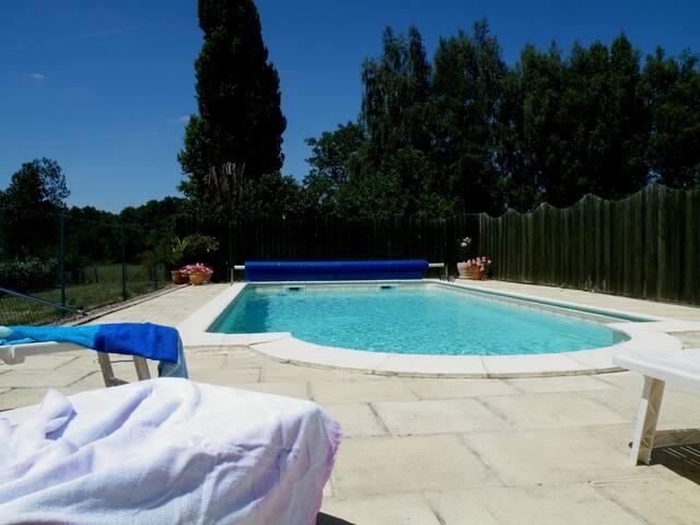 Gite la Genestine - Vallée de la Loire - Beaumont-en-Véron - Chinon - Casa