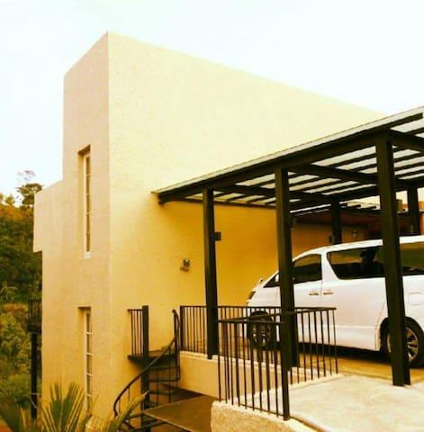 Exterior and Parking Garage