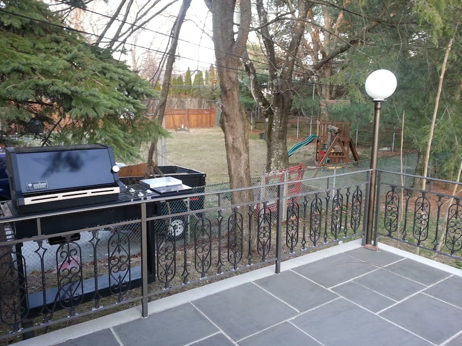 BBQ at the back deck