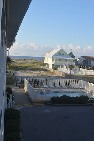 View of Pool & Gulf from Balcony
