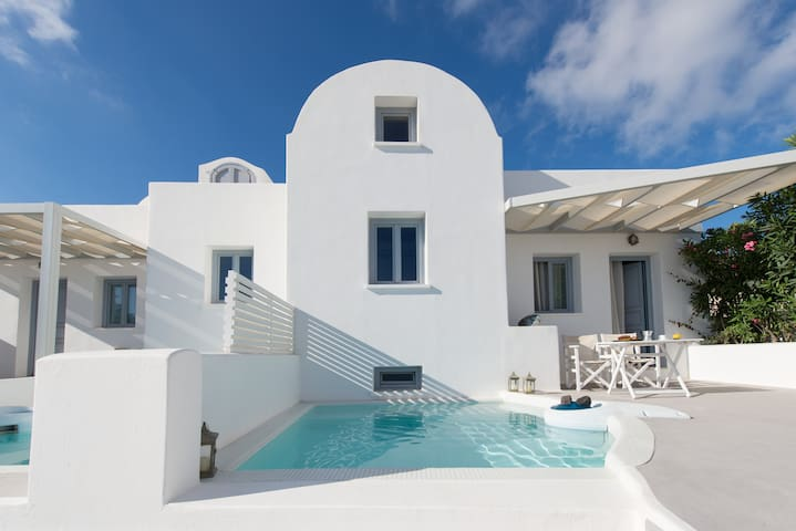 Apartment  for 2  - pool & sea view - Thira - Hus