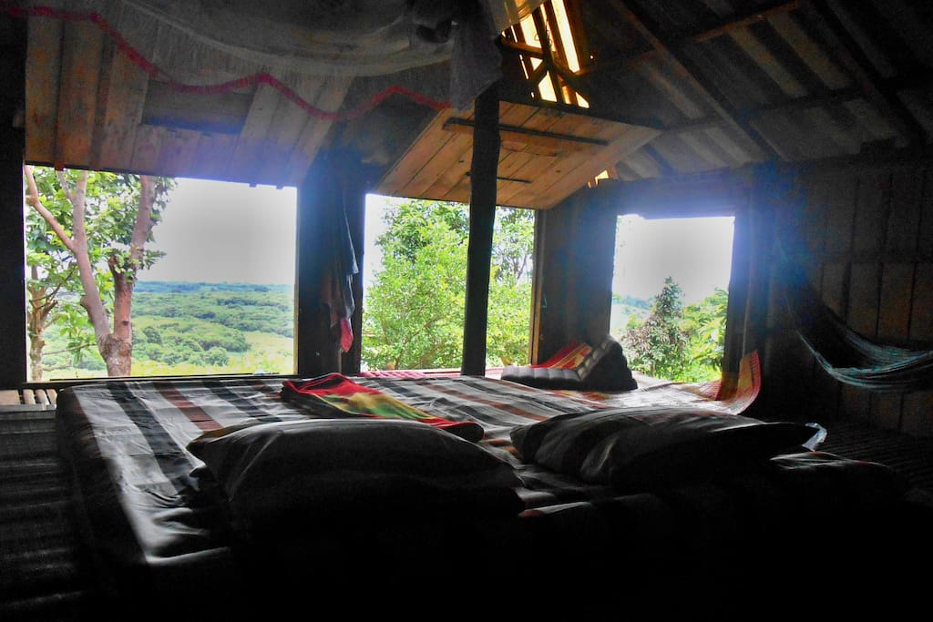 Sleep well in front of the windows, that can be closed for the night rain or storm. Sleep with the pure sound of nature...