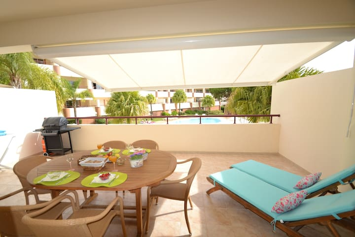 Lux 1BD with terrace/pool:Vilamoura - Quarteira - Condominium