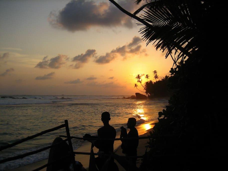 Sunset at Galawatta beach