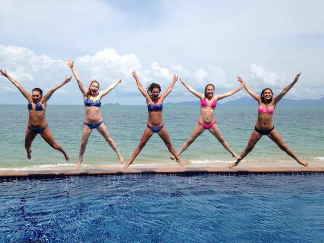 Girls just wanna have fun! Welcome to the Lotus Beach Villa!