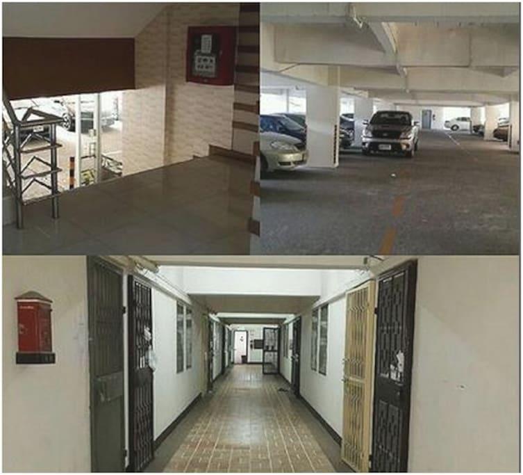 Security door and free parking