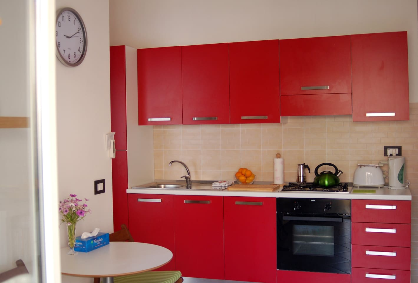 our very happy red kitchen