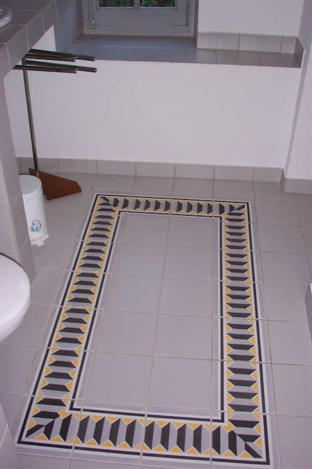 détail salle d'eau
