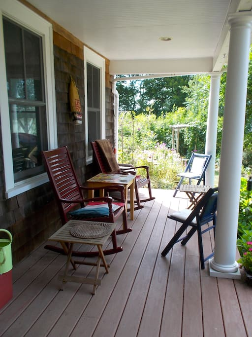 Relax on the wrap around front porch.