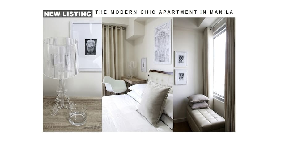The Modern Chic Apartment In Manila - Manila - Leilighet