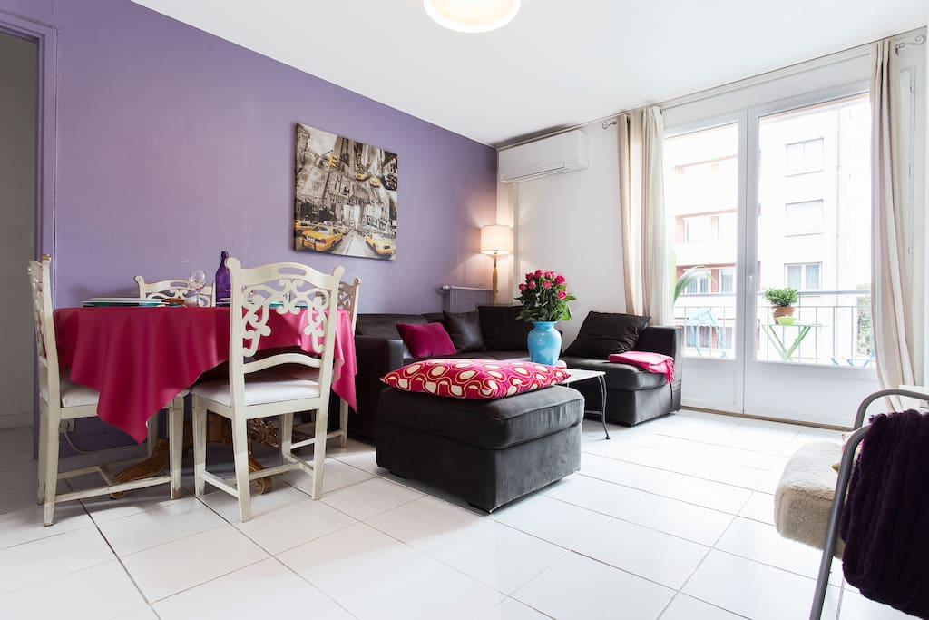 beau t3 proche centre 2 6 pers parking apartments for rent in toulouse midi pyr n es france. Black Bedroom Furniture Sets. Home Design Ideas