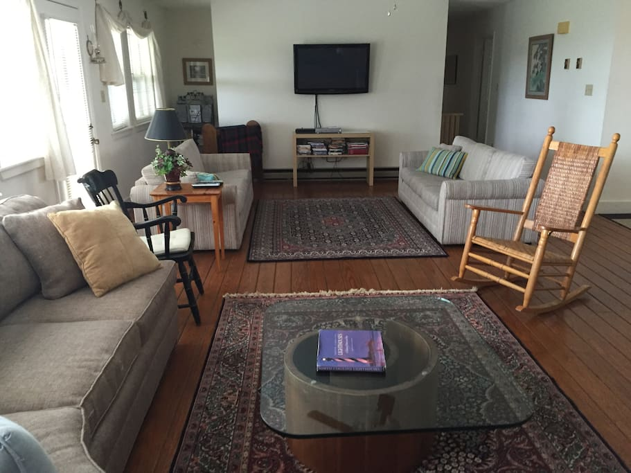 """Great Room with 50"""" Flat Screen TV, Cable and DVD Player"""