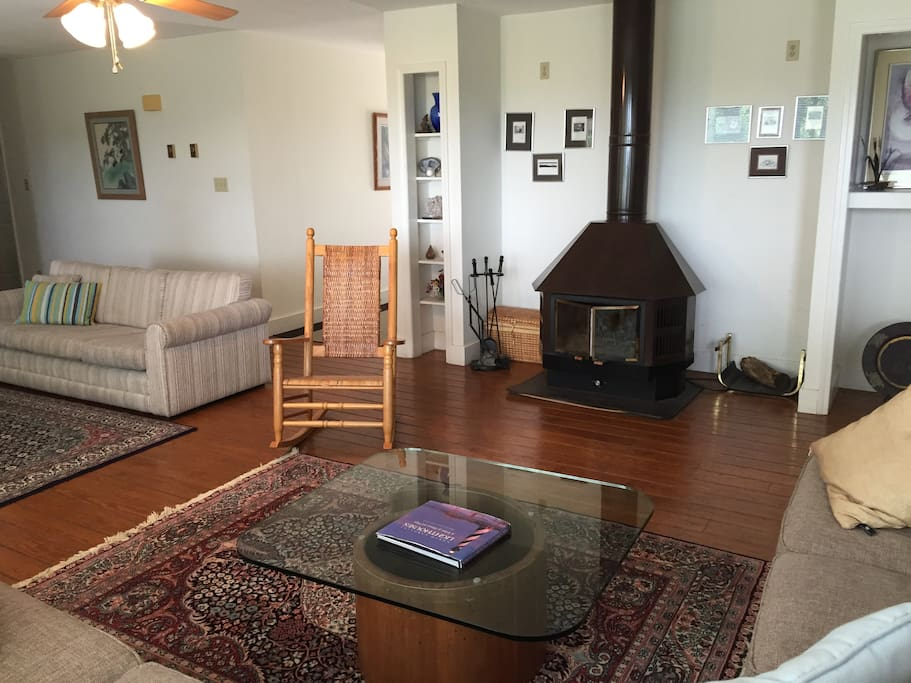 Great Room with Wood Burning Stove