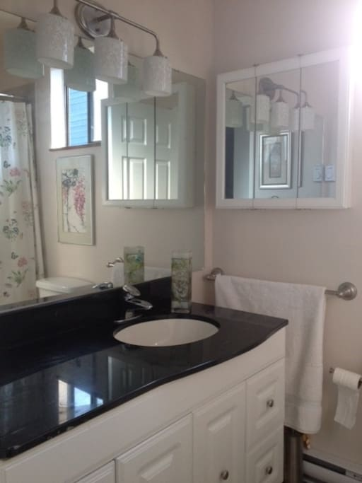 Bathroom, has drawers empty for your cosmetics & toiletries