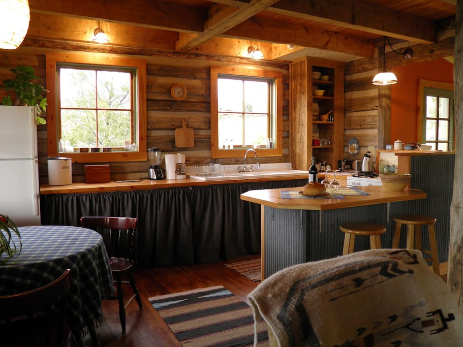 Enjoy the intimacy of our warm and inviting kitchen/dining area