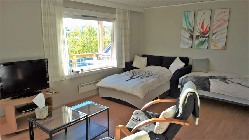 Studio apartment with balcony - Narvik - House