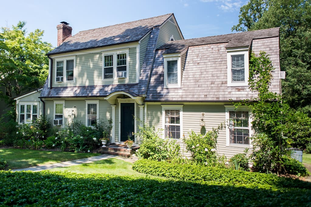 View of the house from the street. The house is a 1928 Sears Roebuck house and has been lovingly restored with period appropriate materials. It is located in the quaint hamlet of Chappaqua, a few blocks away from President Clinton.