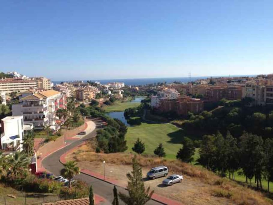 Vues du golf et de la mer