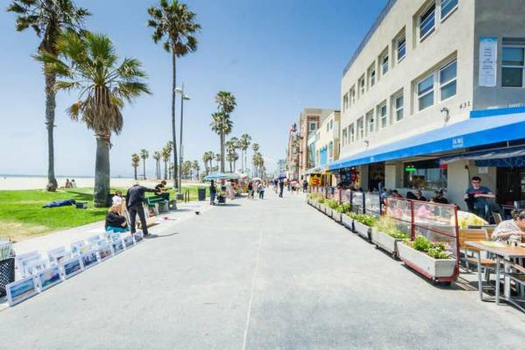 Venice Boardwalk a block away!