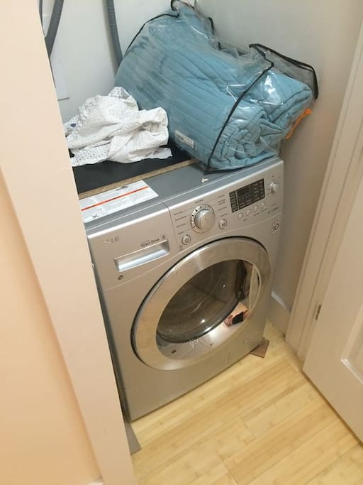 Washer/Dryer instead of having to go to the Cleaners.