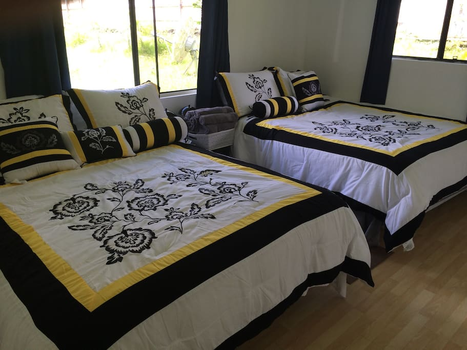 Master Bedroom with two queen-size beds